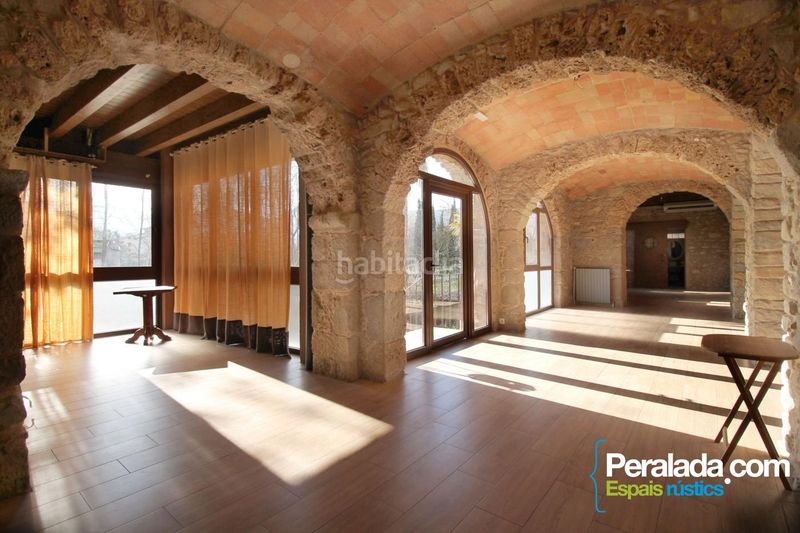 Salón comedor. House with fireplace heating parking in Mieres