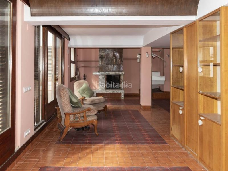salon 1. Penthouse with fireplace in Sant Antoni Cullera