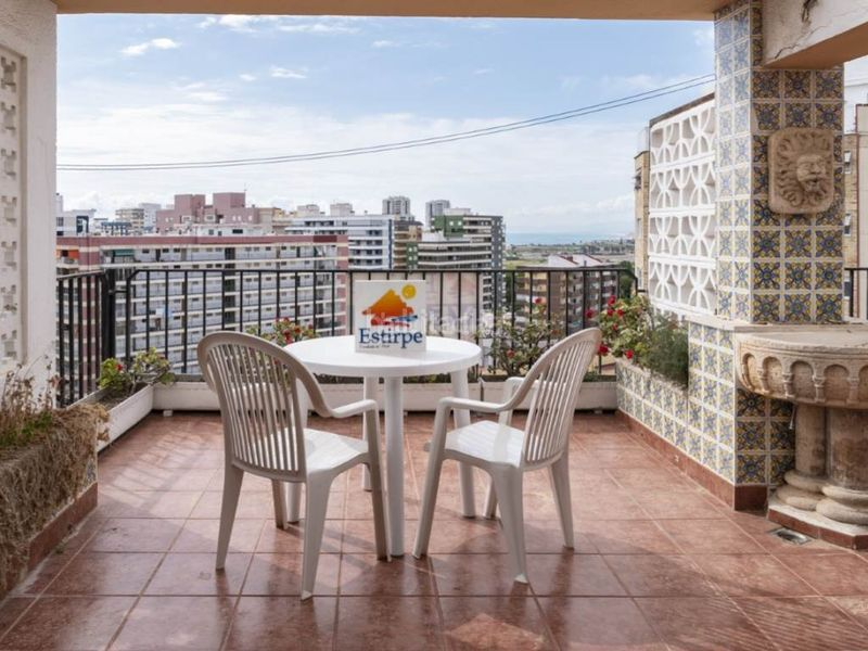 terraza 1. Penthouse with fireplace in Sant Antoni Cullera