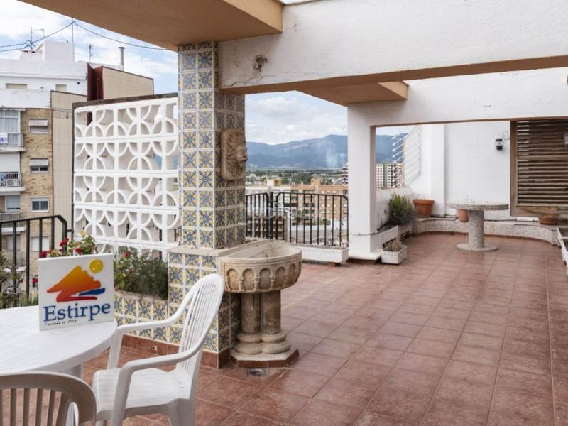 terraza 2. Penthouse with fireplace in Sant Antoni Cullera