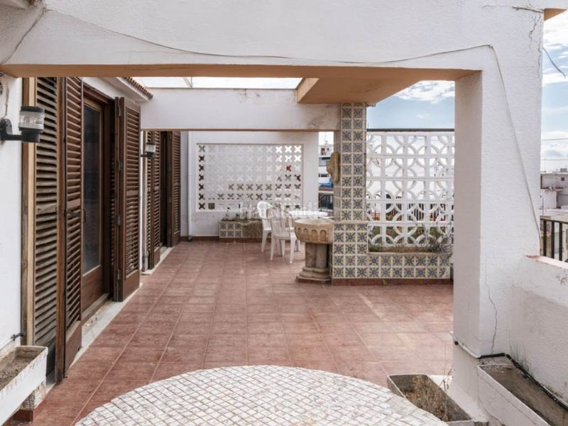 terraza 3. Penthouse with fireplace in Sant Antoni Cullera
