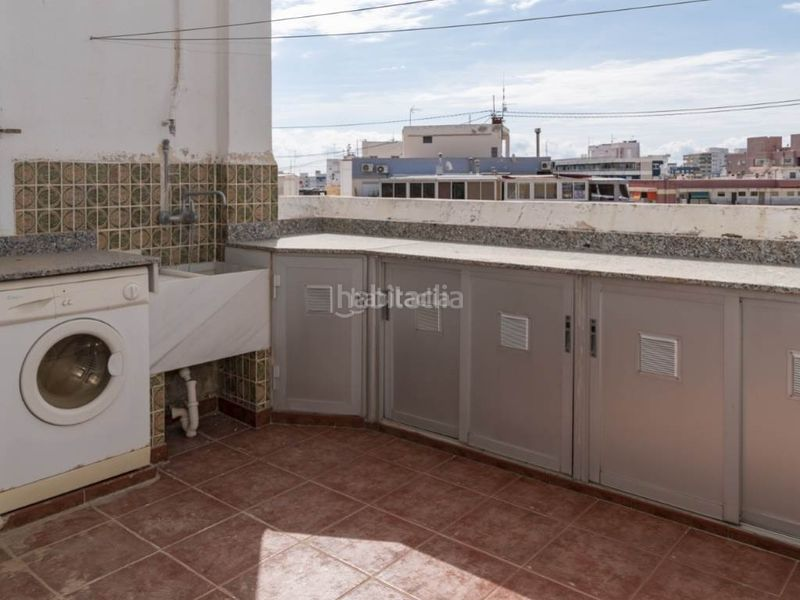 terraza cocina. Penthouse with fireplace in Sant Antoni Cullera