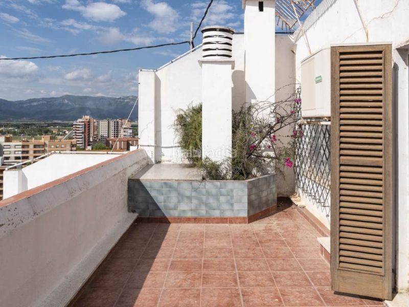 terraza dormitorio superior. Penthouse with fireplace in Sant Antoni Cullera