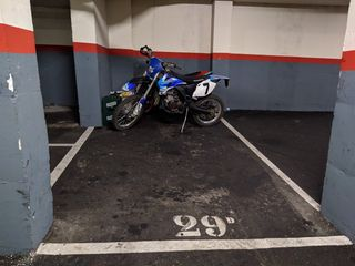 Motorradparkplatz  Carrer ancianitat. Plaza parking motos