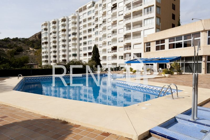 Piscina comunitaria. Appartement mit heizung pool in Poble Nou-Montiboli Vila Joiosa (la)