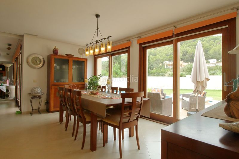 comedor. Chalet mit kamin heizung parking pool in Sa Pobla