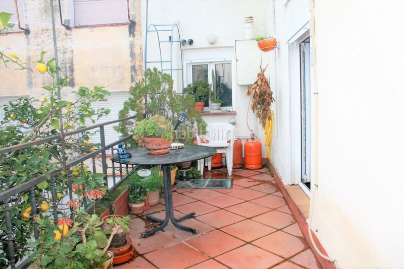 Terraza. House with fireplace heating parking in Canet de Mar