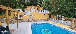 Casa  Puigventós. Casa con piscina en una planta