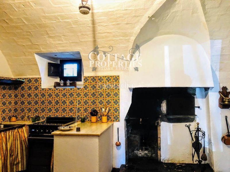 Cocina. Country house with fireplace heating parking pool in Vilademuls