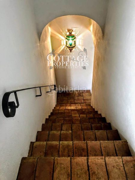 Escaleras. Country house with fireplace heating parking pool in Vilademuls