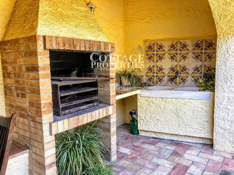 Terraza. Country house with fireplace heating parking pool in Vilademuls