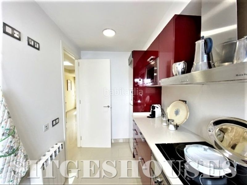 Cocina. Flat with heating in Centre Sitges