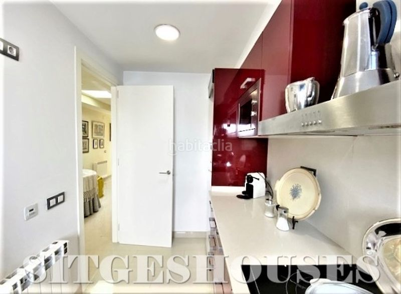 Cocina tipo office. Flat with heating in Centre Sitges