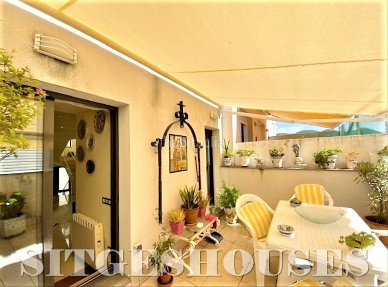 terraza salón 18m2. Flat with heating in Centre Sitges
