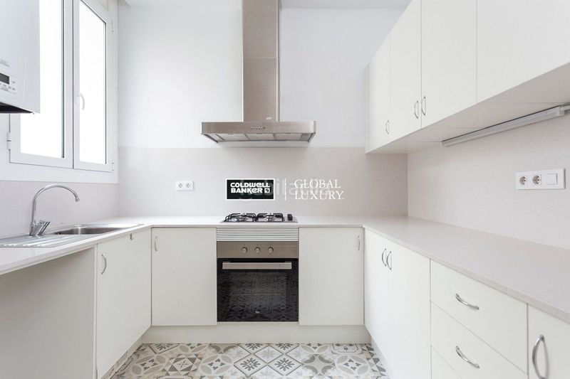 Cocina. Rent flat with heating in Dreta de l´Eixample Barcelona