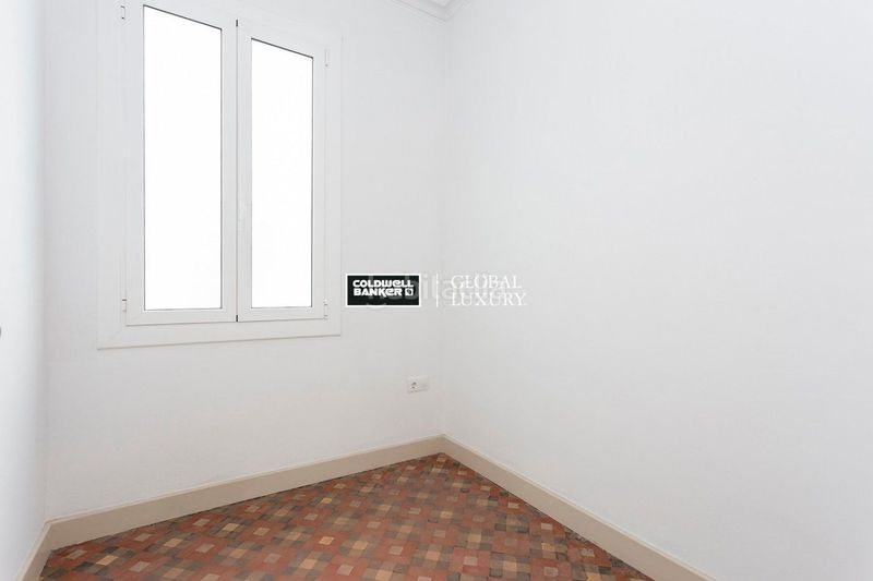 Dormitorio. Rent flat with heating in Dreta de l´Eixample Barcelona