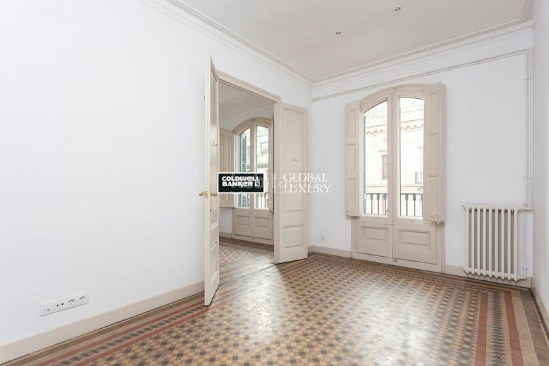 Salón. Rent flat with heating in Dreta de l´Eixample Barcelona