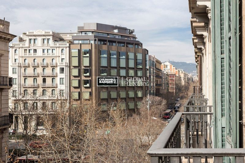 Vistas. Rent flat with heating in Dreta de l´Eixample Barcelona