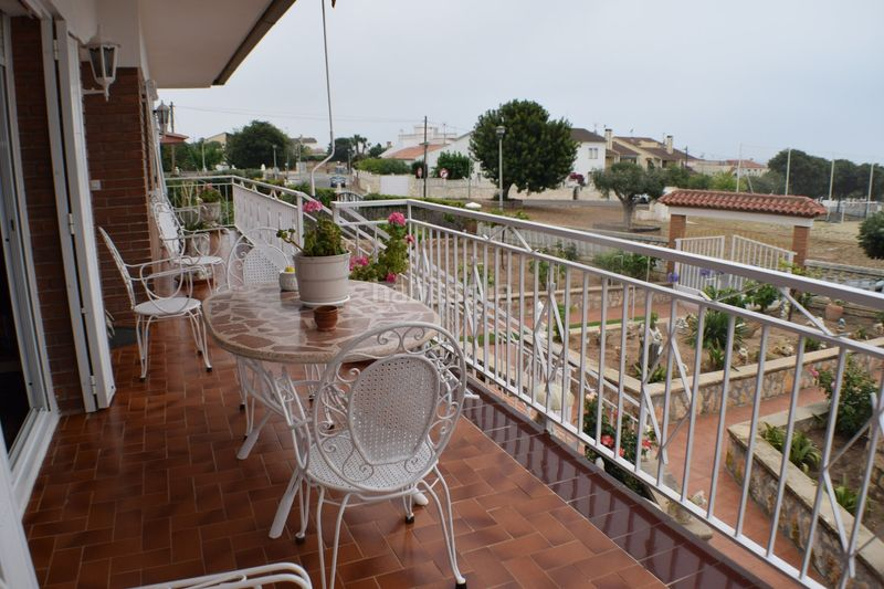 terraza. House with fireplace heating parking in Urbanitzacions Torredembarra