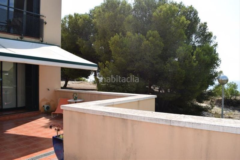 terraza frontal. Miete appartement mit parking pool in Platja-Els Munts Torredembarra