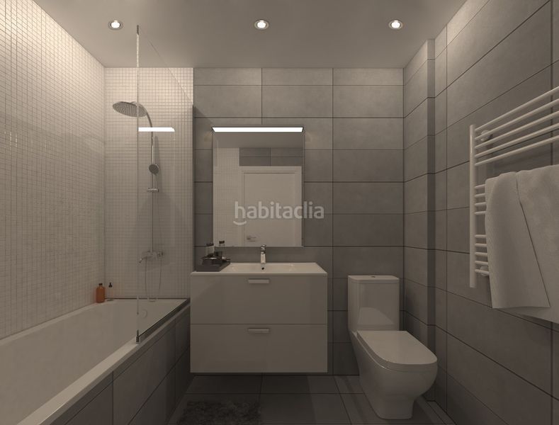 Baño. Development Sol i Padris in Sabadell. Homes of new buildings