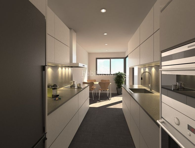 Cocina. Development Sol i Padris in Sabadell. Homes of new buildings