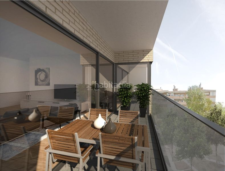 Terraza. Development Sol i Padris in Sabadell. Homes of new buildings