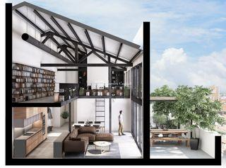 Loft in Carrer nicaragua, 75. Obra nueva. New building