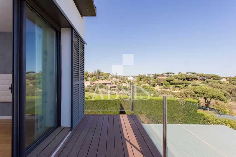 Terraza. Rent house with heating parking pool in Sant Vicenç de Montalt