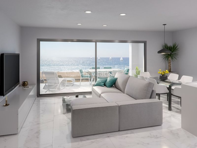 salon con salida a terraza Edificio viviendas Pineda de Mar