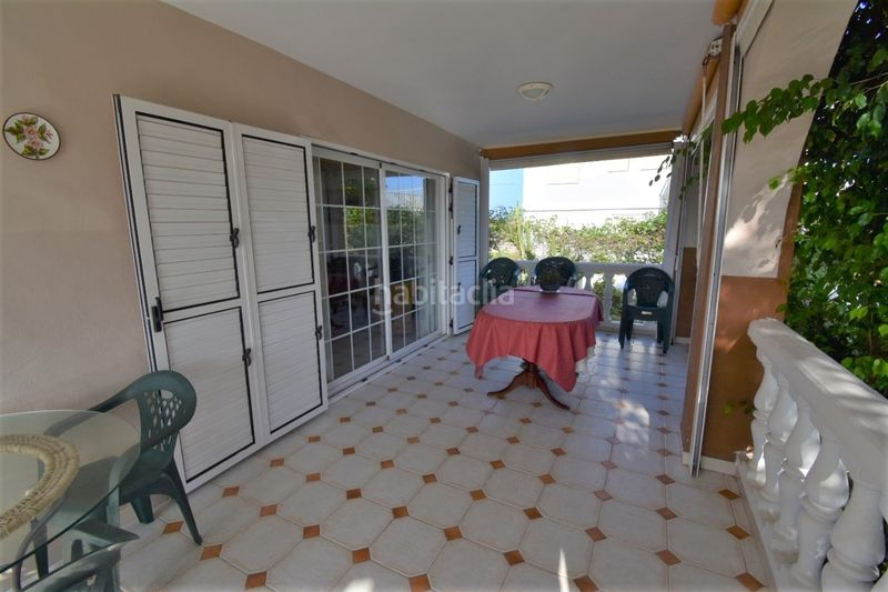 Terraza. Chalet with fireplace parking pool in El Faro-el Dossel Cullera