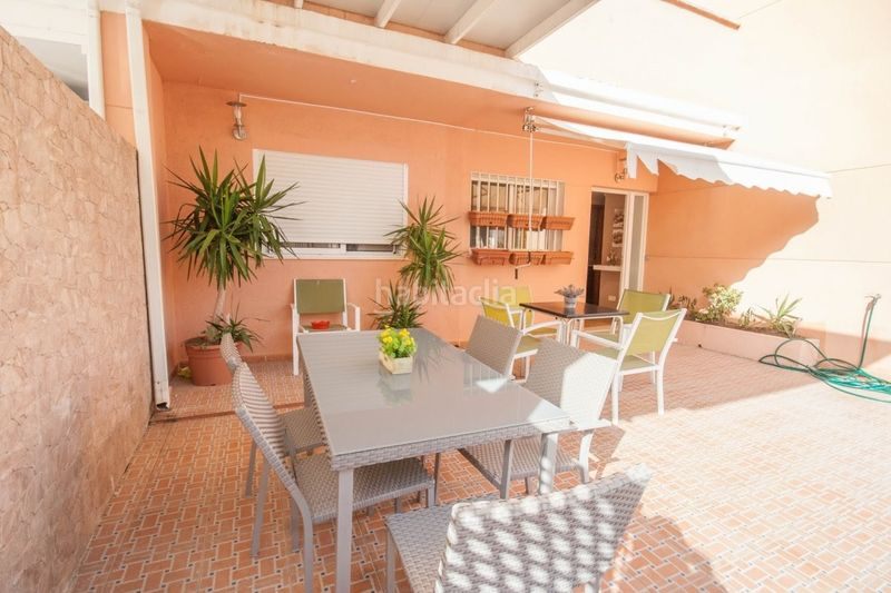 Terraza. Chalet with fireplace parking pool in Sant Antoni Cullera