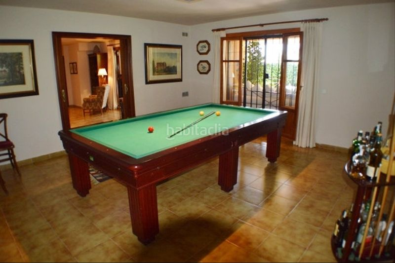 COMEDOR. Chalet with fireplace heating parking pool in Monasterios-Alfinach Puçol
