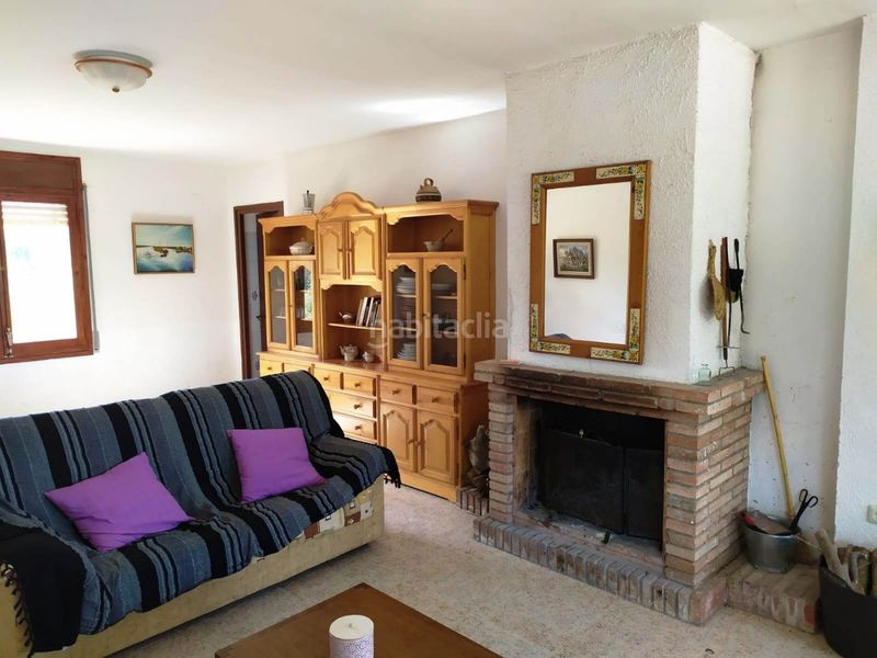 Salón comedor. Country house with fireplace parking in Valls