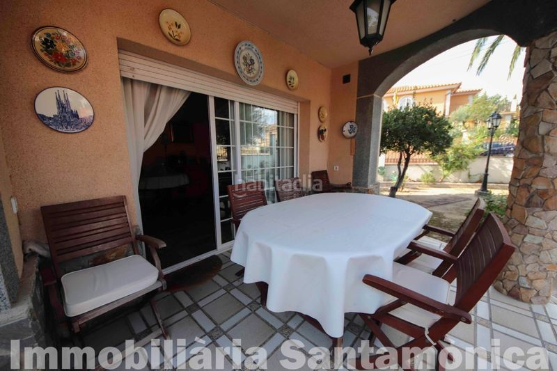TERRAZA. House with fireplace heating parking in Can Moré-Santa Anna Pineda de Mar