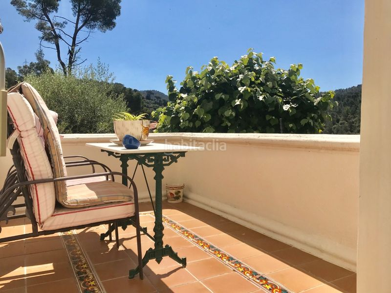 Terraza. Chalet with fireplace heating parking pool in Molins de Rei
