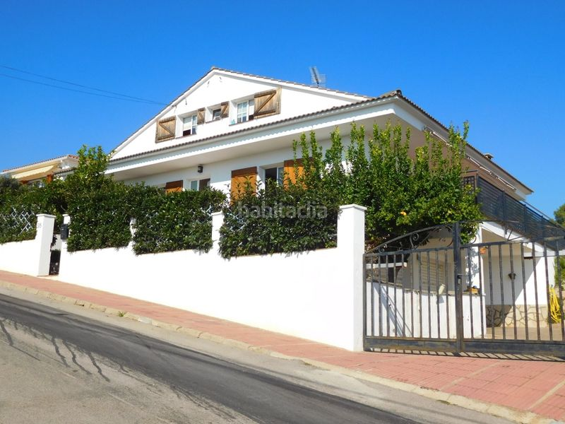 FACHADA. House with fireplace heating parking pool in Caldes de Montbui