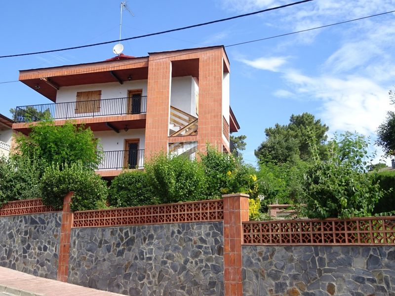 FRONTAL FACHADA. House with fireplace heating parking pool in Maçanet de la Selva