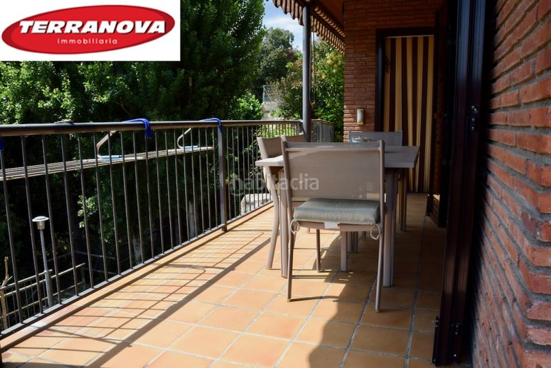 Terraza. House with fireplace heating parking pool in Ametlla del Vallès (L´)