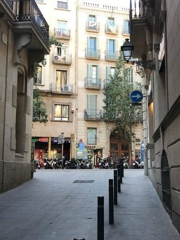 Gebäude Urquinaona. Gebäude in barcelona centro