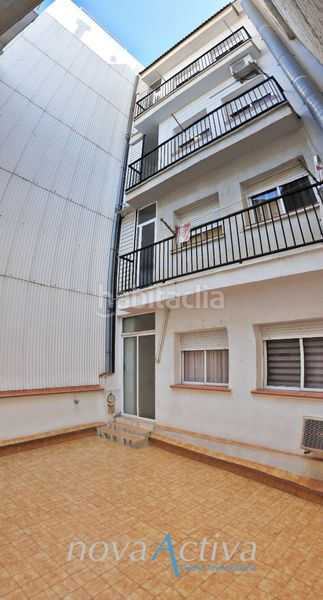 Terraza. Flat with heating in Riu Sud Santa Coloma de Gramenet